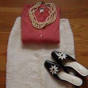 ESCADA white boucle skirt
